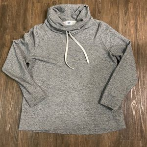 Tall neck hoodie